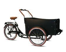 Troy Bakfiets Kindertransportrad Lastenfahrrad 7 G Shimano Kettenschaltung schwa