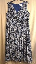 JESSICA LONDON size 18 BLUE animal print sleeveless long GOWN DRESS EUC #2238