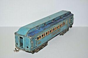 LIONEL PREWAR STANDARD GAUGE 421 WESTPHAL BLUE COMET PASSENGER CAR