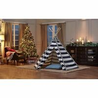 Turtleplay 6' Kids Teepee with LED Light, PURPLE 638836 HAS A RIPPED CARRY BAG