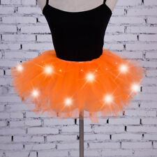Women Girls Light Up LED Tutu Dress Stage Dance Tutu Short Mini Skirt Dancewear