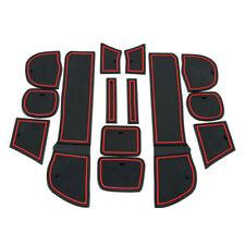 For Honda Fit 2009 2010 2011 Car Interior Non-Slip Mat Rubber Gate Slot Pad Red