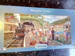 "636 Piece Gibsons jigsaw edition ""Seaside Train"""