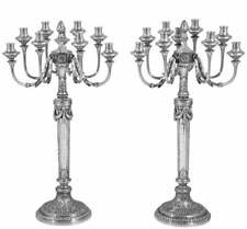 Magnificent & Impressive, Very Large Pair Of Antique Solid Silver Candelabra