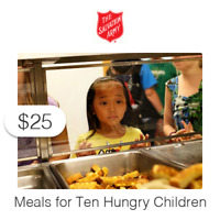 $25 Charitable Donation For: Provides a Meal to Ten Hungry Children