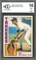 1984 o-pee-chee #8 DON MATTINGLY yankees rookie (50-50 CENTERED) BGS BCCG 10