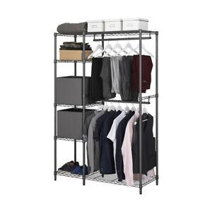 Grey 5 Tier Garment Rack/Wardrobe 1818mm H x 1203mm W x 457mm D
