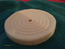 "(2) 6"" Xtra 3/4""Thick Cotton Polishing Buffing Wheels 1/2""Arbor Hole New/Package"