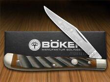BOKER TREE BRAND Washboard Brown Bone Slimline Trapper Pocket Knife Stainless
