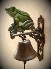 Wand Glocke Frosch Eisen Klingel Motiv Geschenk Haus Tür Garten Deko Vintage