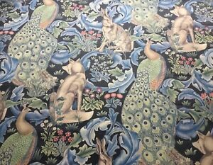 WILLIAM MORRIS WATERPROOF/ SHOWER CURTAIN MATERIAL 'FOREST' 2M