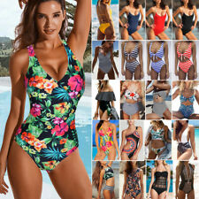 Womens One Piece Monokini Swimsuit Swimwear Beachwear Push Up Bathing Bikini