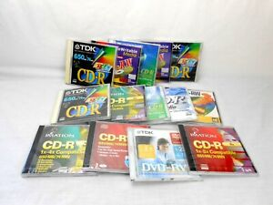 15 Random TDK, Pacific Digital CR-R 650 MB Compact Disc Record-able 74 Minute