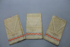 3 seltene Leinen Damast Handtücher Geschirrtücher Küchentücher 110 x 47 cm (R137