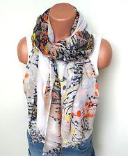 Neu Langschal Halstuch Schal Tuch Fashion Blumen Baumwollmischung
