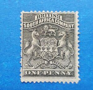 Rhodesia Stamp, Scott 2 Mint with No Gum