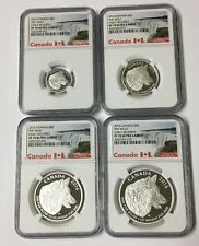 2016 CANADA SILVER PROOF THE WOLF 4 COIN SET NGC PF70 F/R ULTRA CAMEO