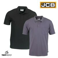 JCB Essential Heavyweight Mens Short Sleeve Polo Shirt Work Top T-Shirt New