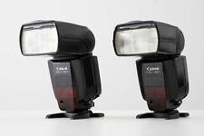 Canon Speedlite 580EX II Flash x 2 PLUS Canon ST-E2 Wireless Transmitter
