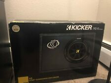"Kicker 10TC104 Car Audio Sub-Woofer 10"" Speaker & Case Enclosure NEW IN BOX"