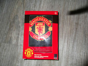 Regenponcho Manchester United Gr.XL Regenjacke Cape Poncho Regen Jacke Umhang