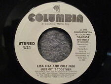 "45 RPM 7"" Record Lisa Lisa & The Cult Jam Just Git It Together Demo 38-68938"