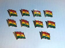 Wholesale Lot of 10 Bolivia Flag Lapel Pin, Brass Finish, Brand New
