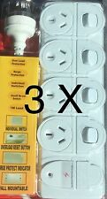 3 X 4 WAY SURGE PROTECTOR POWER BOARD WITH INDIVIDUAL SWITCHES - 4 OUTLET