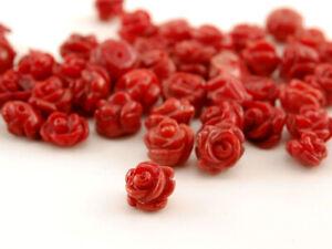 angebohrt //R107 6x Koralle Rose 7-10 mm lachsrosa