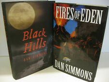 DAN SIMMONS Fires of Eden - Black Hills 1st Edition/1st Printing Lot of 2