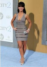 New Grey Crystal Beaded V Cocktail Celebrity Bandage Bodycon Party Races Dress