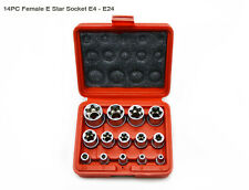 "Star Torx Socket Set External E-Socket E-Type Female 14pcs 1/4"" 3/8"" 1/2"" Dr."