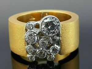 Minimalist ring 14k yellow gold plated solid 925 sterling silver bezel