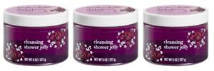 (3 Pack) Bodycology Dark Cherry Orchid Moisture Shea Cleansing Shower Jelly 8 Oz