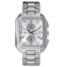 Seiko Premier SNA741 P1 Silver Dial Chronograph Men's Quartz Rectangle Watch