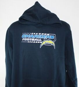 NEW Mens NFL Navy Blue Chargers Fleece Football Pullover Hoodie Sweatshirt