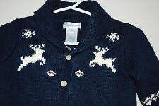 RALPH LAUREN SHAWL COLLAR CARDIGAN SWEATER Reindeer NORDIC Holiday Baby Boys 6M