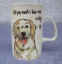 FINE BONE CHINA MUG - GOLDEN RETRIEVER - DOG - THINK PAWSITIVE - ASHDENE - NIB
