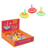 SPINNING TOP - WD229 COLOURFUL FINGER SPINNER ROUND ROTATING PEG-TOP WOODEN GYRO