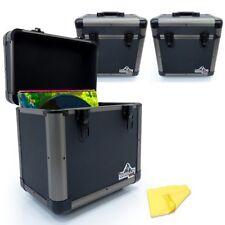"3x Gorilla 12"" LP Vinyl Record Carry Case DJ Storage Box - Titanium - Holds 60"