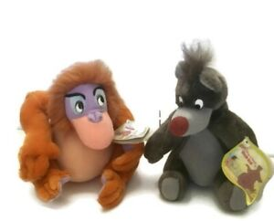 Vintage Jungle Book King Louie and Baloo Plush Lot NWT Old Tags Rare Applause
