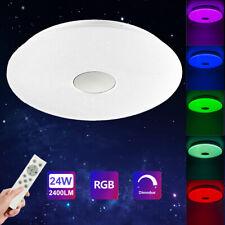 LED Deckenleuchte RGB Sternenhimmel Deckenlampe Dimmbar 24W Lampe Wohnzimmer