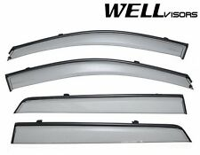 For 2007-2012 Hyundai Santa Fe WellVisors Side Window Visors W/ Black Trim