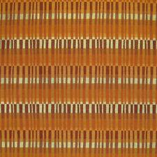 Burnt Orange Striped Upholstery Fabric 2001432 Roulon Sienna