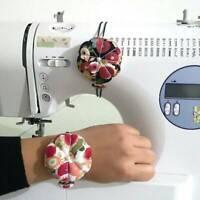 New Pumpkin Needle Pin Cushion Holder Wrist Pincushion DIY Craft Sewing Supply