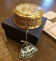 Vintage 1950's Jaeger LeCoultre Miniature 8 Day Alarm Clock - Box & Papers