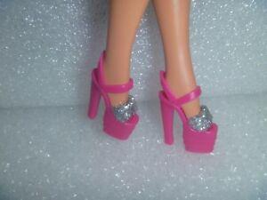 Barbie Shoes - Wide Silvery Glittery Stiletto Heel Platform~*~Unique