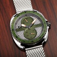 Men's Joshua & Sons JX136GN Multifunction Dual Sub Dial Stainless Steel Watch