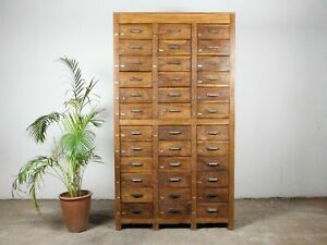 Vintage Wooden Rustic Drawers Cabinet Apothecary Shop Haberdashery MILL-984