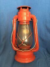 Vintage DIETZ JUNIOR No. 20 Kerosene Lantern Red Steel Railroad Train Barn Cabin